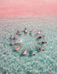 The Pink Beach Indonesien