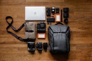 rucksack it laptop kamera